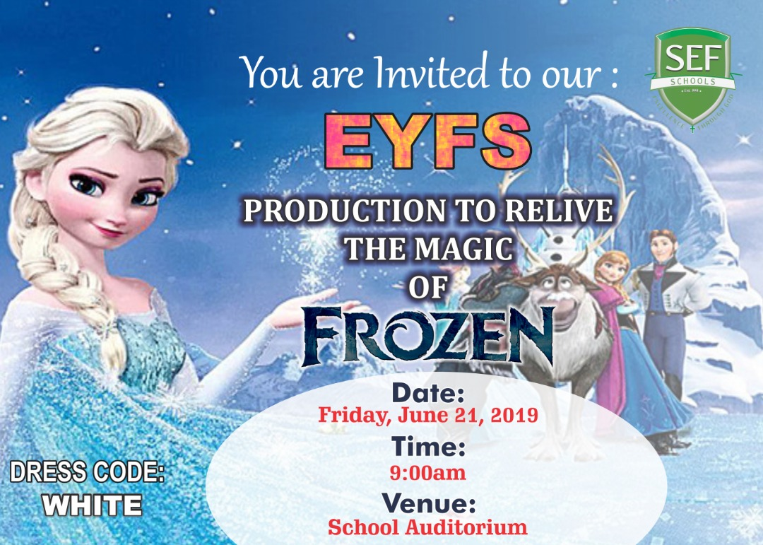 EYFS: PRODUCTION TO RELIVE THE MAGIC OF FROZEN